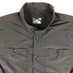 Under Armour Heat Gear button fishing shirt vented